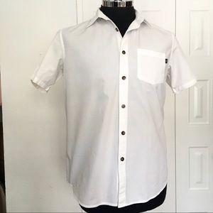 OAKLEY white button down short sleeve shirt M